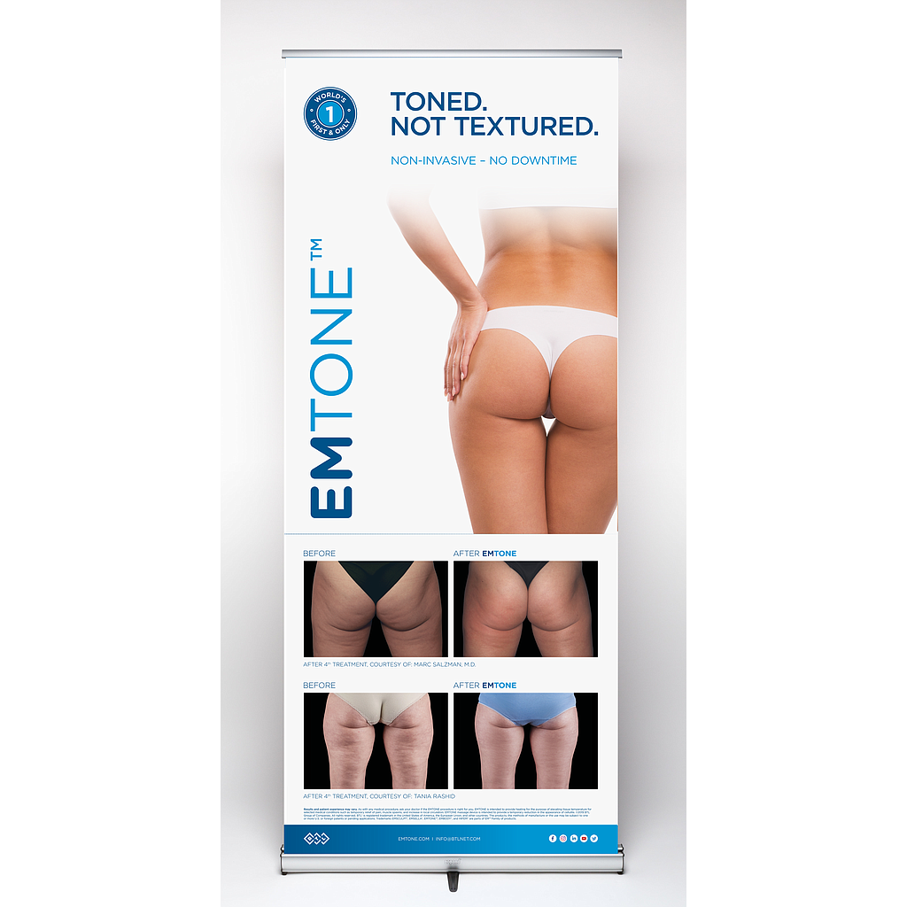 EMTONE Pull-up Banner - Buttocks