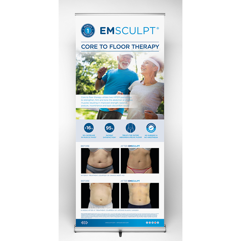 EMSCULPT Pull-up Banner - Core to Floor